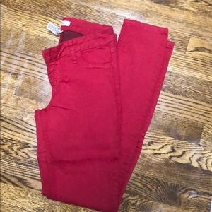 Red refuge denim jeggings NWOT